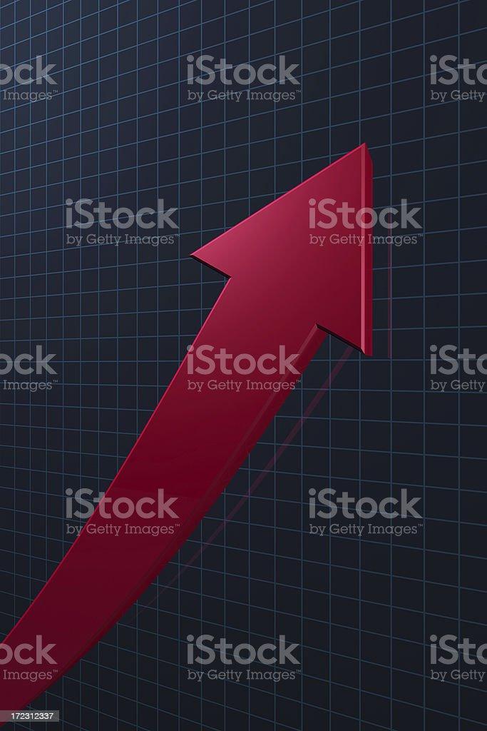 Stock Market Graph Up royalty-free stock photo