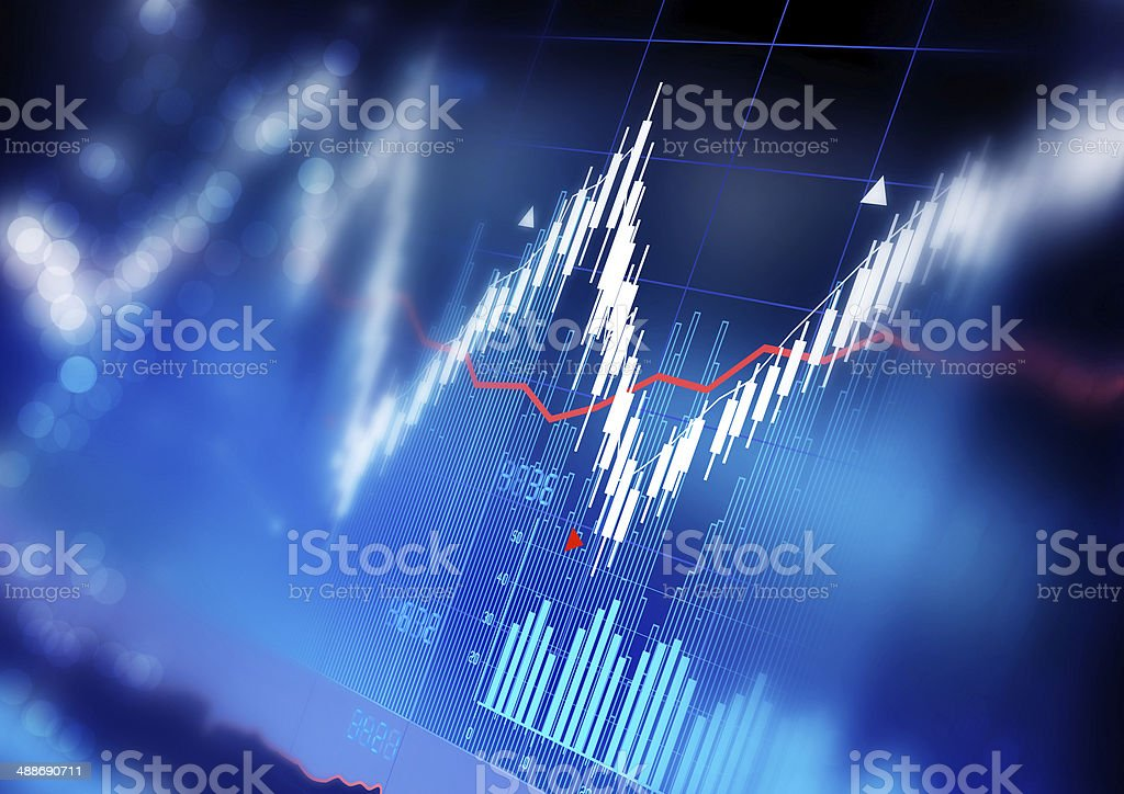 Stock Market Graphs stock photo
