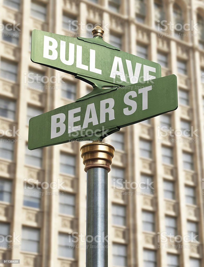 Stock Market Intersection royalty-free stock photo