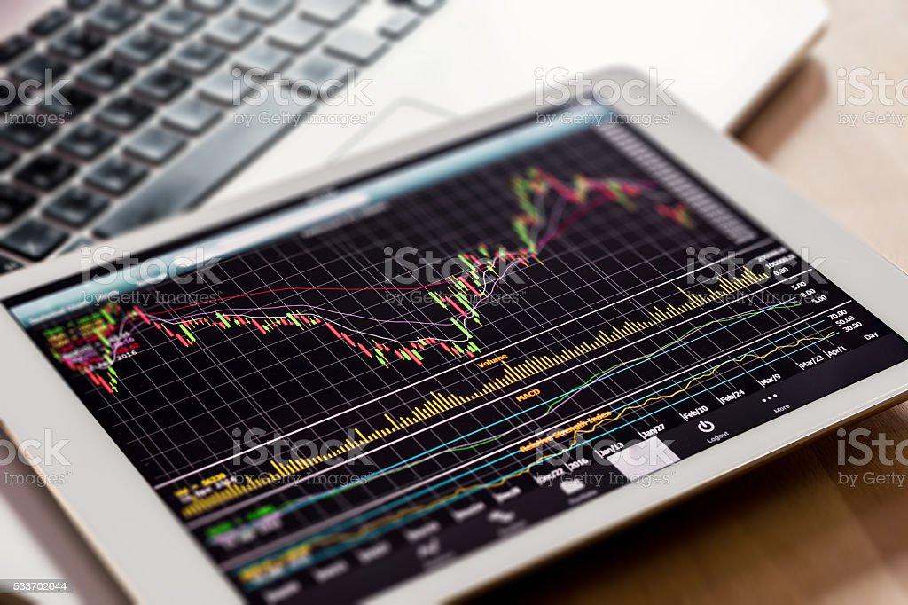 stock market monitoring stock photo