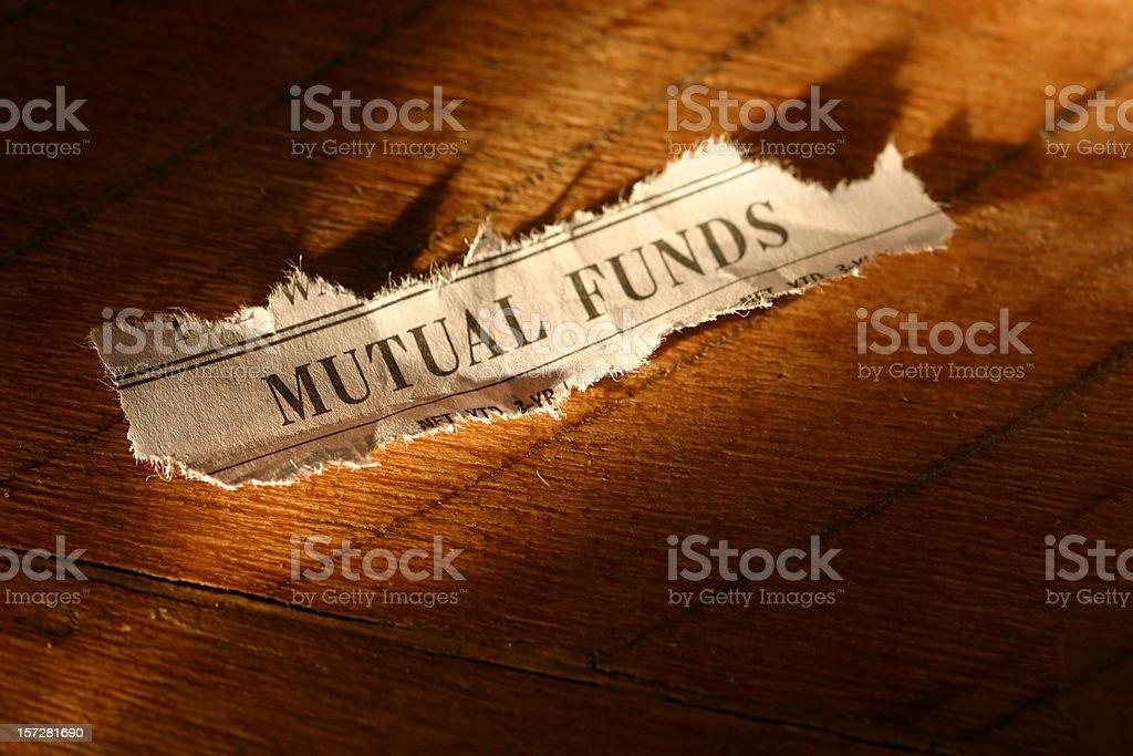 Stock Market - Mutual Funds stock photo