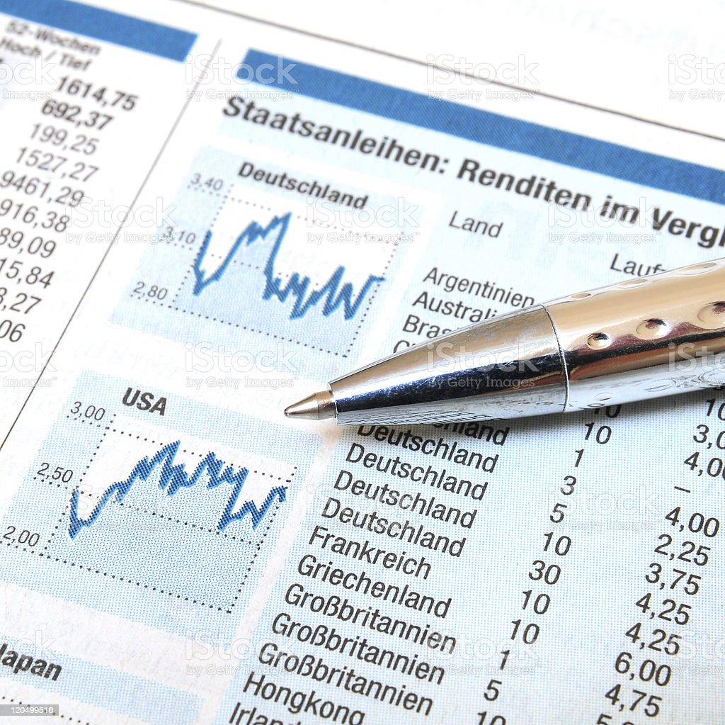 Stock Market News stock photo