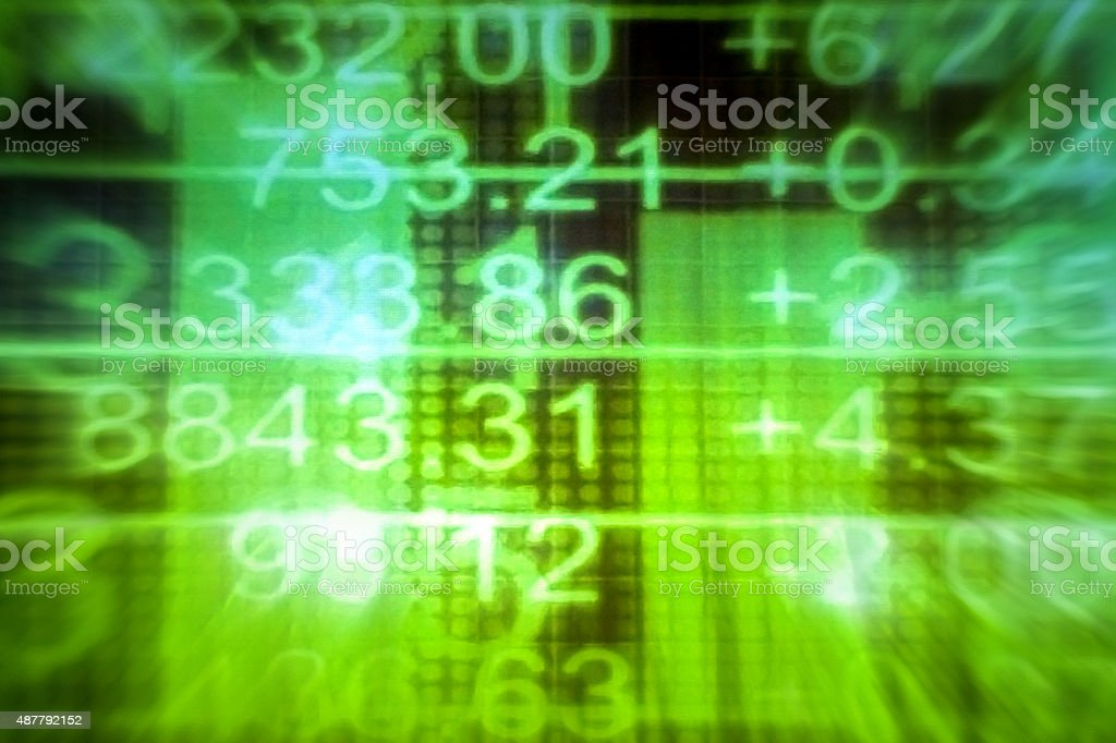 Stock Market Numbers stock photo