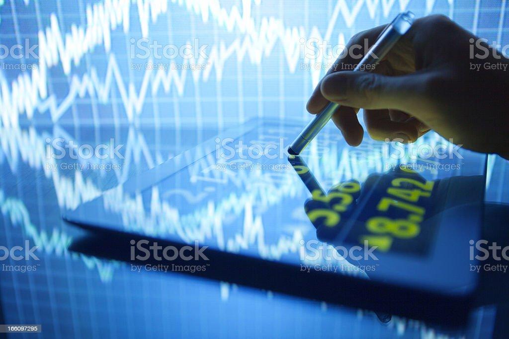 Stock Market on Digital Tablet royalty-free stock photo