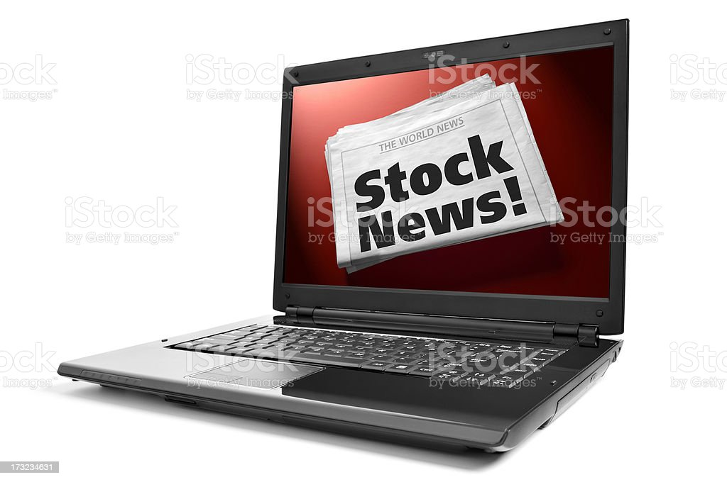 Stock Market Online News! royalty-free stock photo