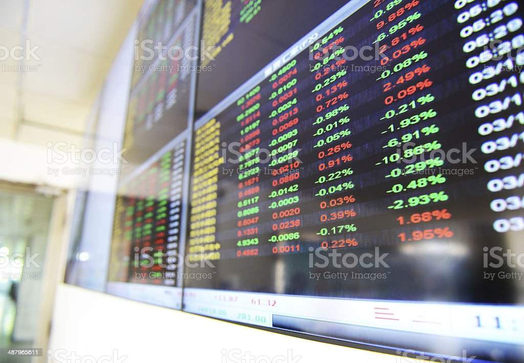 stock market stock photo