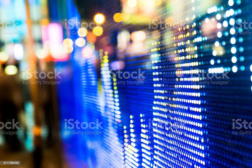 Stock market price display stock photo