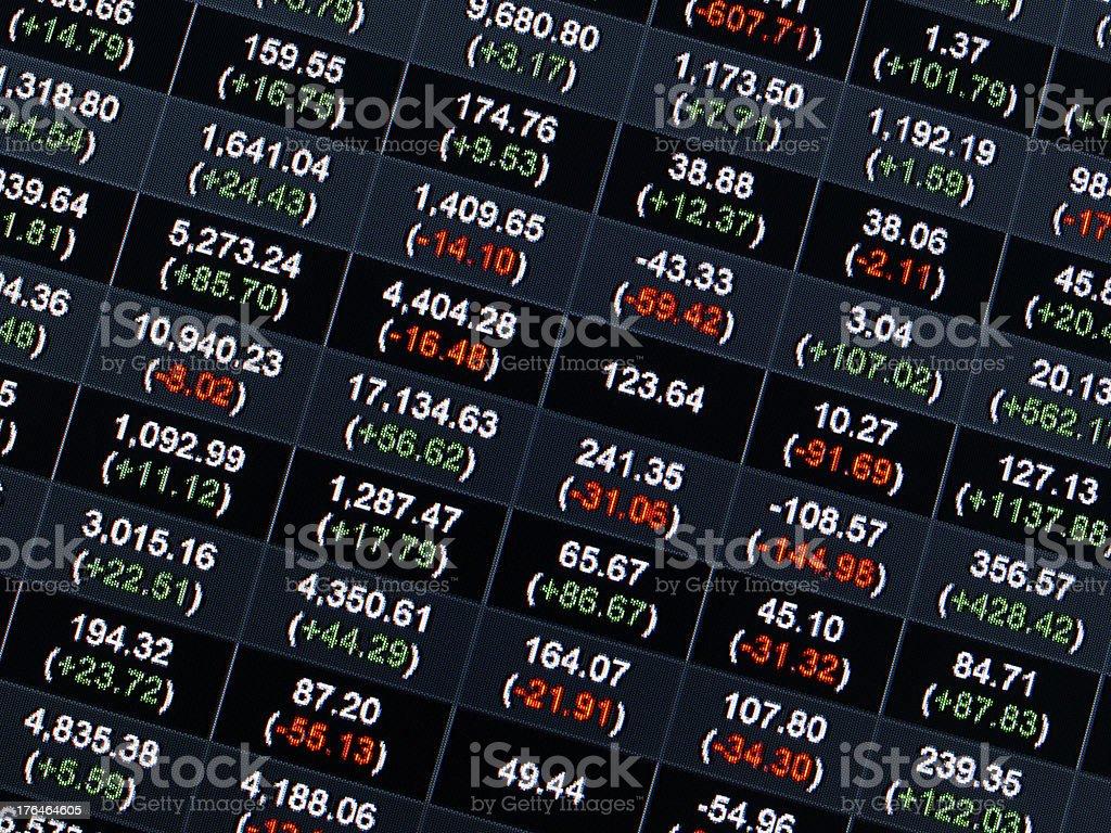 Stock Market Price royalty-free stock photo