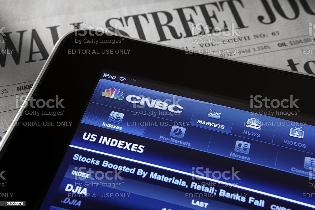 Stock Market Quotes stock photo