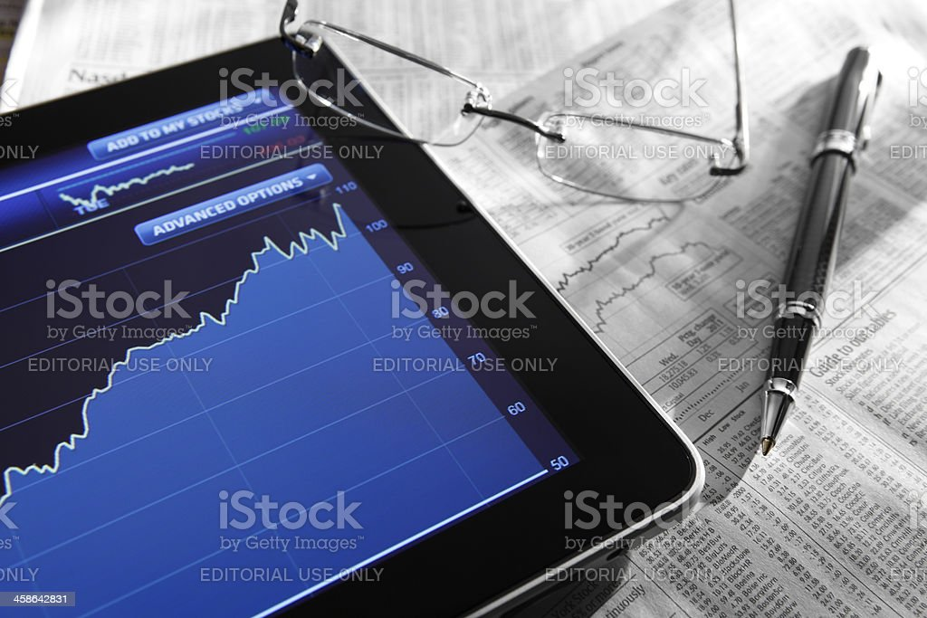 Stock Market Quotes royalty-free stock photo