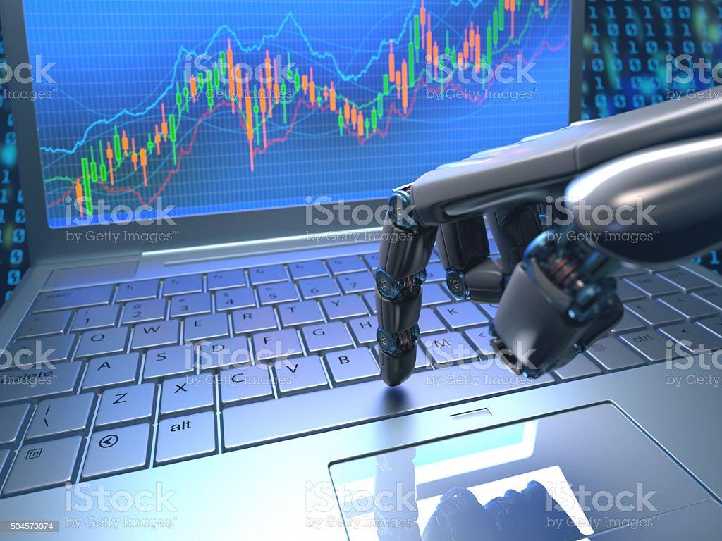 Stock Market Robot Trading stock photo