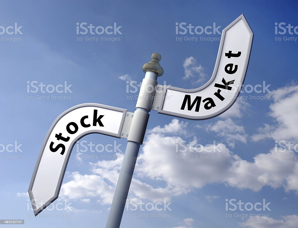 stock market sign stock photo
