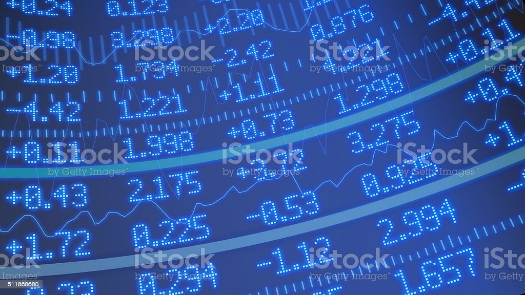 Stock market ticker background stock photo