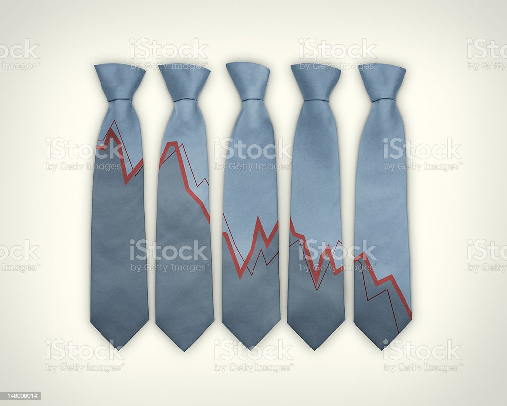 Stock Market Ties royalty-free stock photo