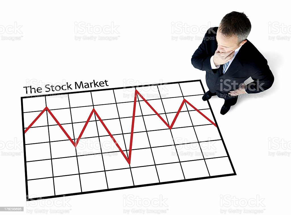 Stock Market Uncertainty royalty-free stock photo
