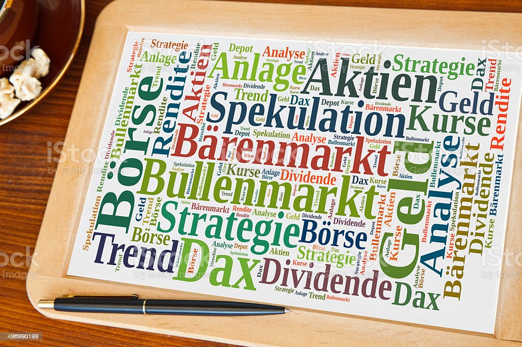 stock market word cloud stock photo