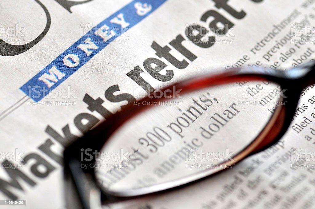 Stock Markets Retreat royalty-free stock photo