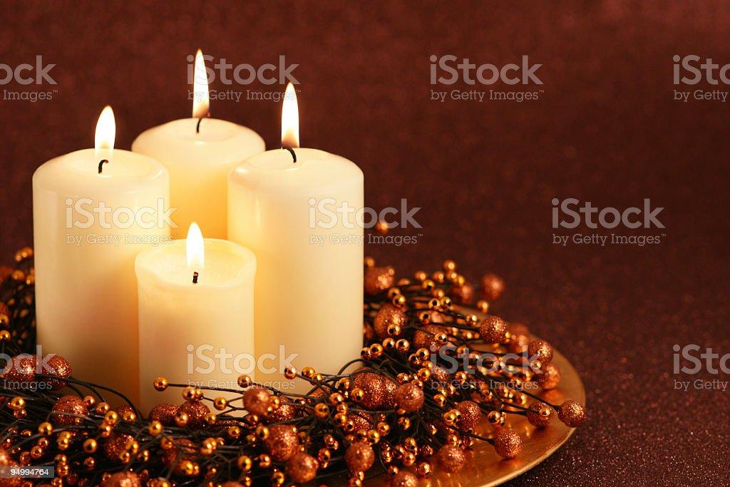 Stock Photo Christmas Candles royalty-free stock photo