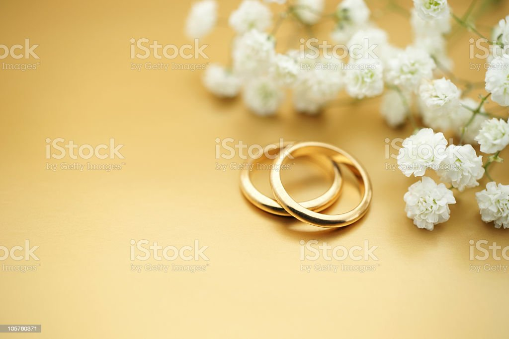 Stock Photo Gold Wedding Rings royalty-free stock photo