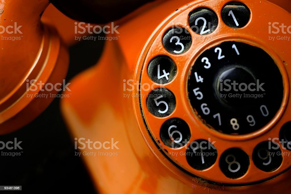 Stock Photo Grungy old telephone royalty-free stock photo