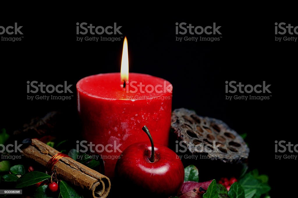 Stock Photo Holiday Candle royalty-free stock photo