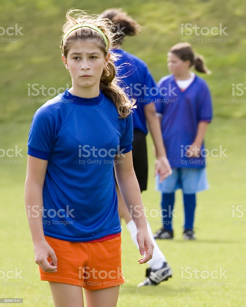 Stock Photo of a Female Soccer Player royalty-free stock photo
