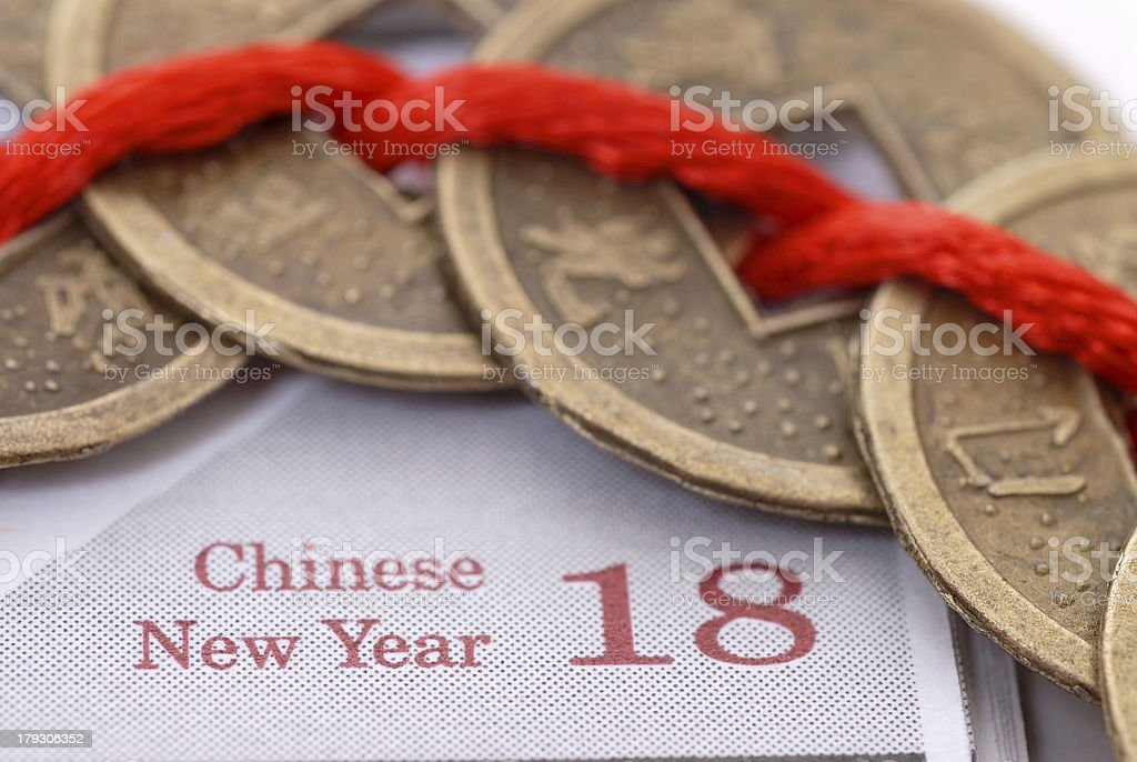 Stock Photo of Chinese Good Luck Coins royalty-free stock photo