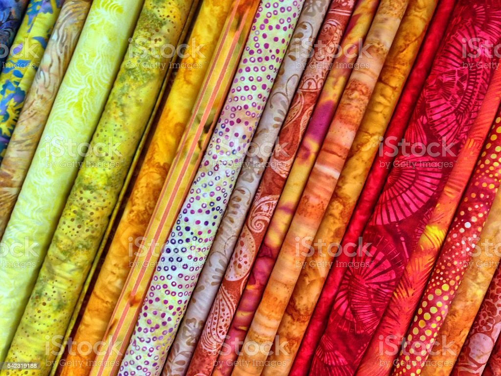 Stock Photo of Fabric in Shades of Red and Orange stock photo