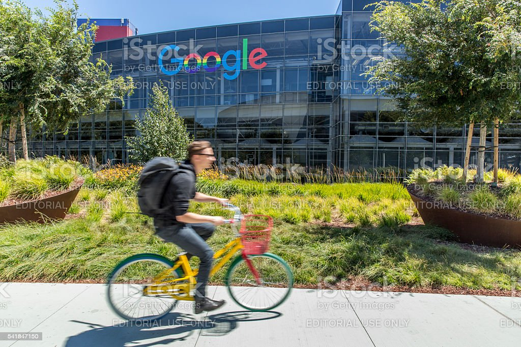 Stock Photo of Google Headquarters in Mountain View stock photo