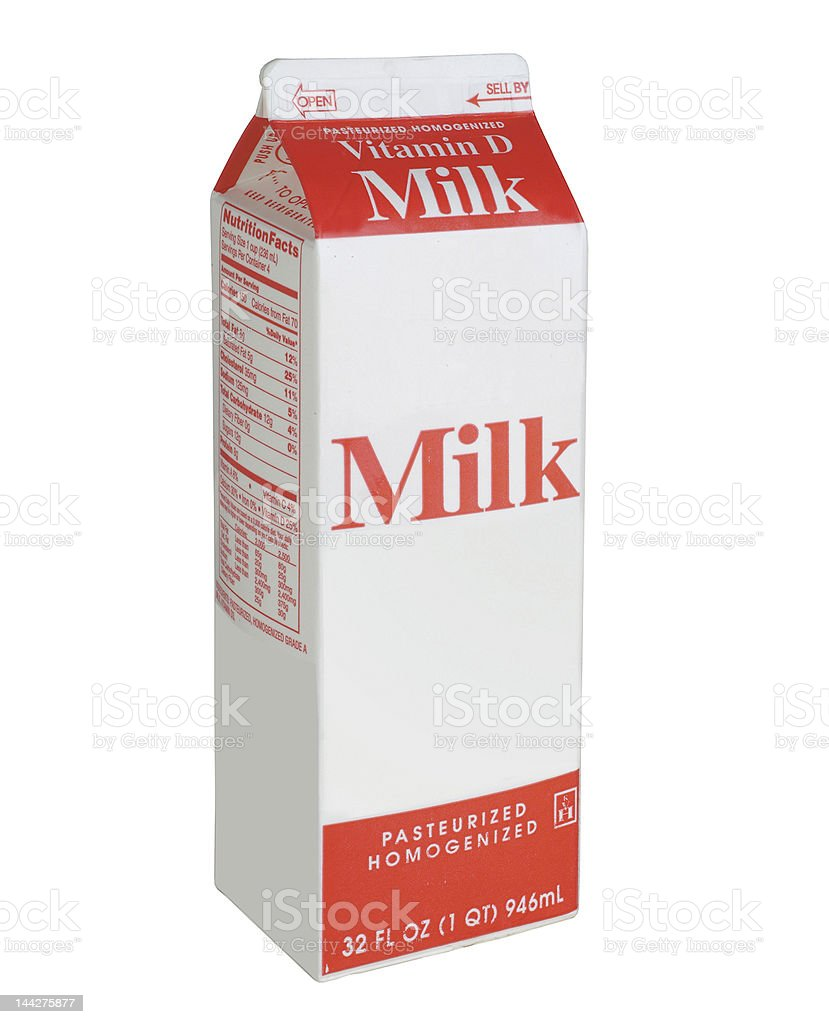 Stock Photo of Milk Carton stock photo