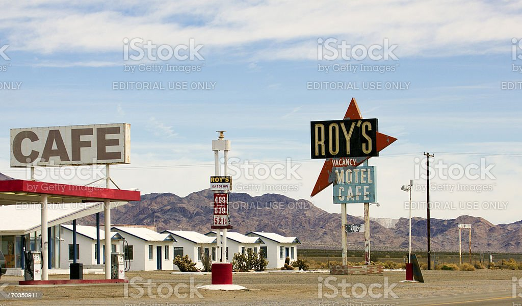 Stock Photo of Route 66 Motel and Cafe, Amboy California stock photo
