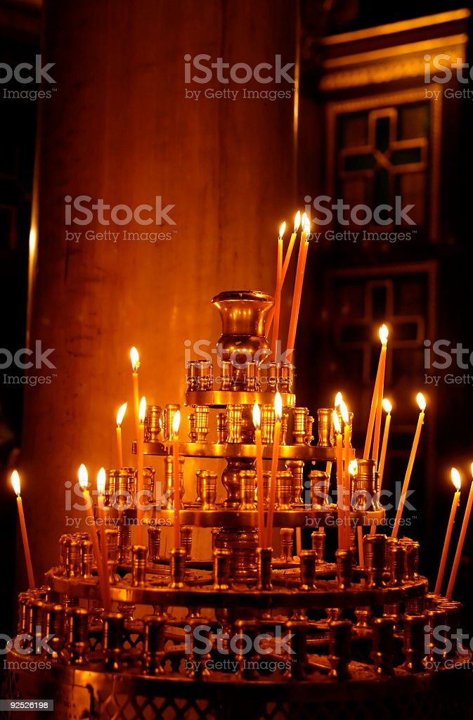 Stock Photo Prayer Candles stock photo