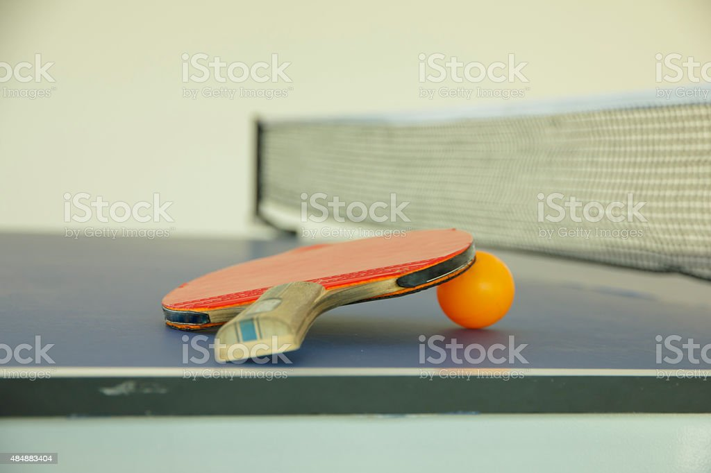 Stock Photo:  Racket for tennis and a ball stock photo