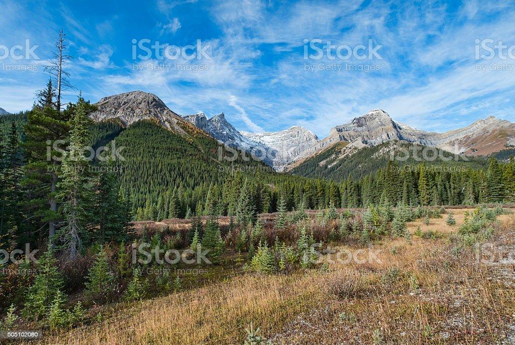 Stock Photo Rocky Mountain in Kananaskis Country Near Calgary, Alberta stock photo