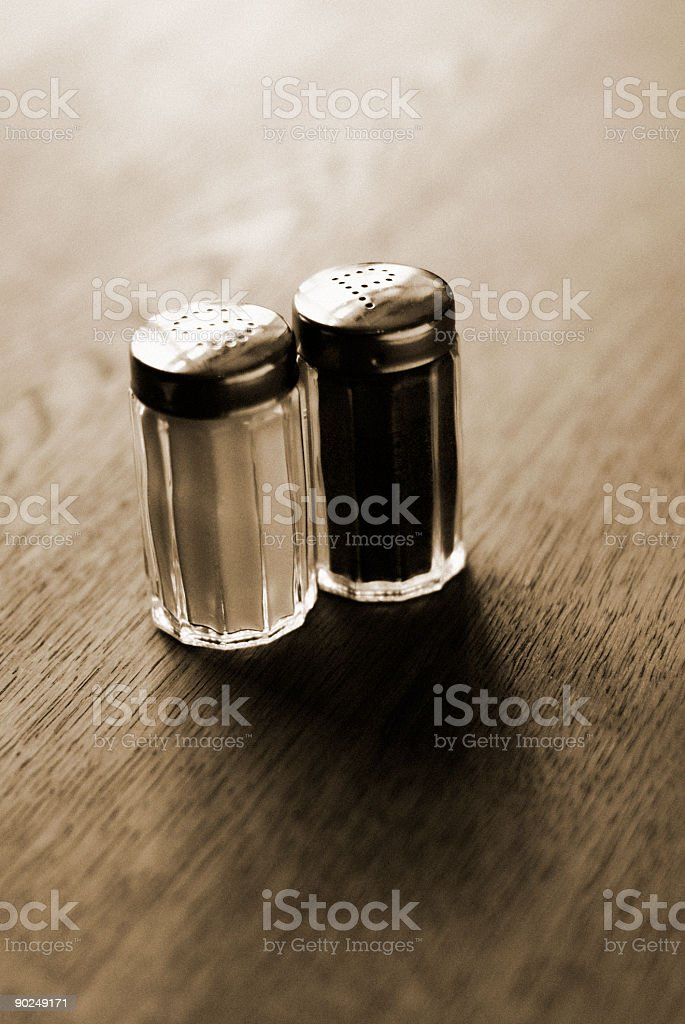 Stock Photo Salt and Pepper sepia stock photo