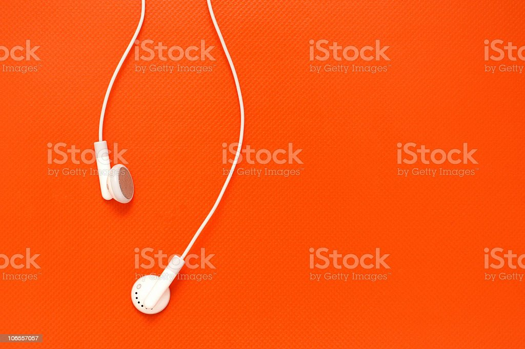 Stock Photo Summer Music Earbuds stock photo