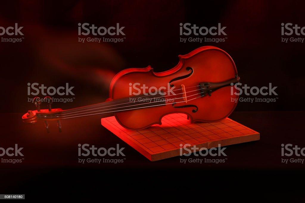 Stock Photo: Violin isolated on black stock photo