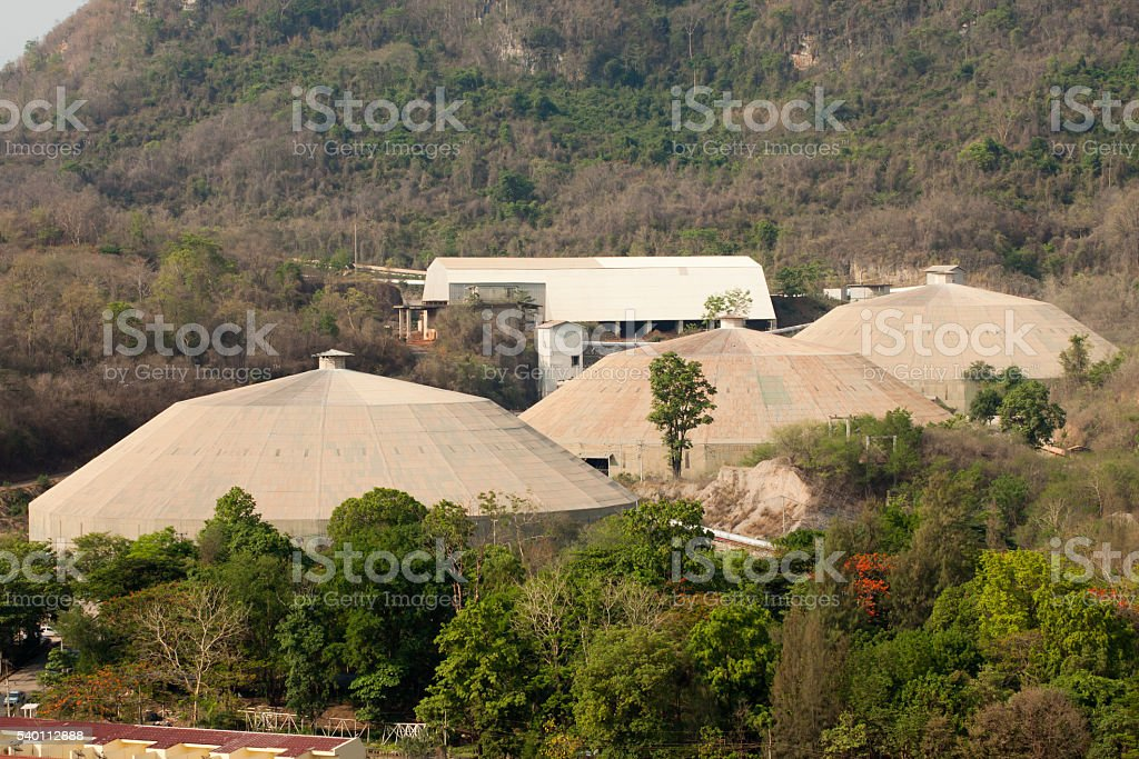 Stock pile material cover stock photo
