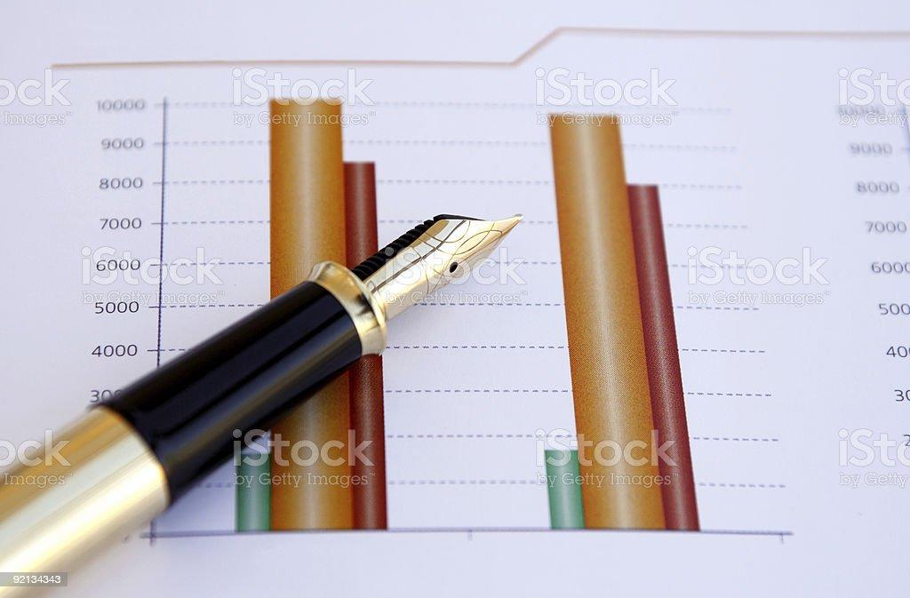 Stock price chart royalty-free stock photo