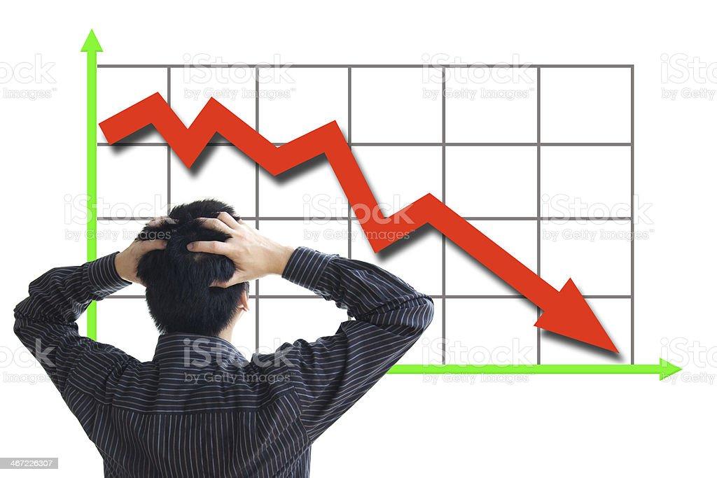 Stock price declining stock photo