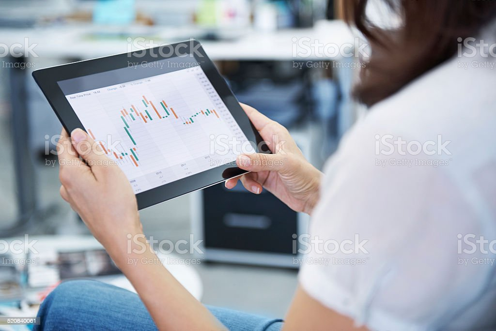 Stock prices are down - time to buy! stock photo