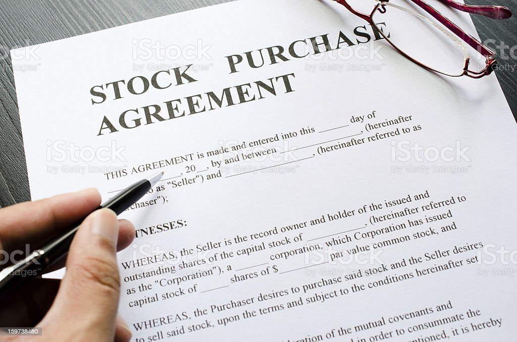 stock purchase stock photo