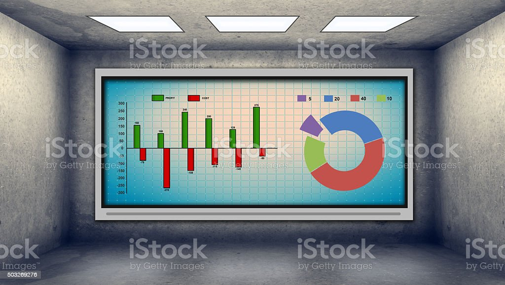 stock scheme and chart stock photo