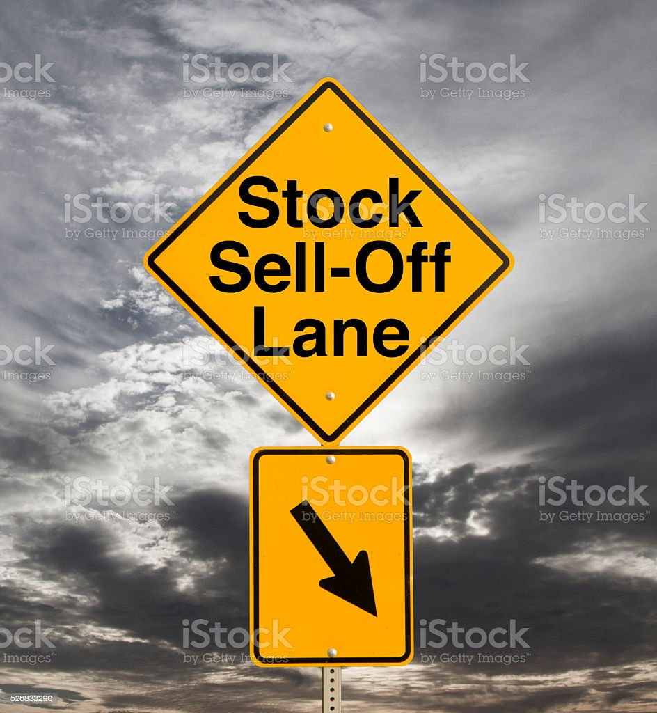 Stock Sell-Off stock photo