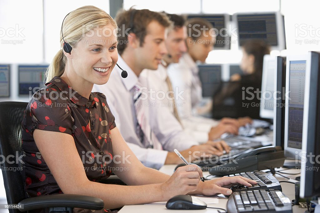 Stock Traders Working stock photo