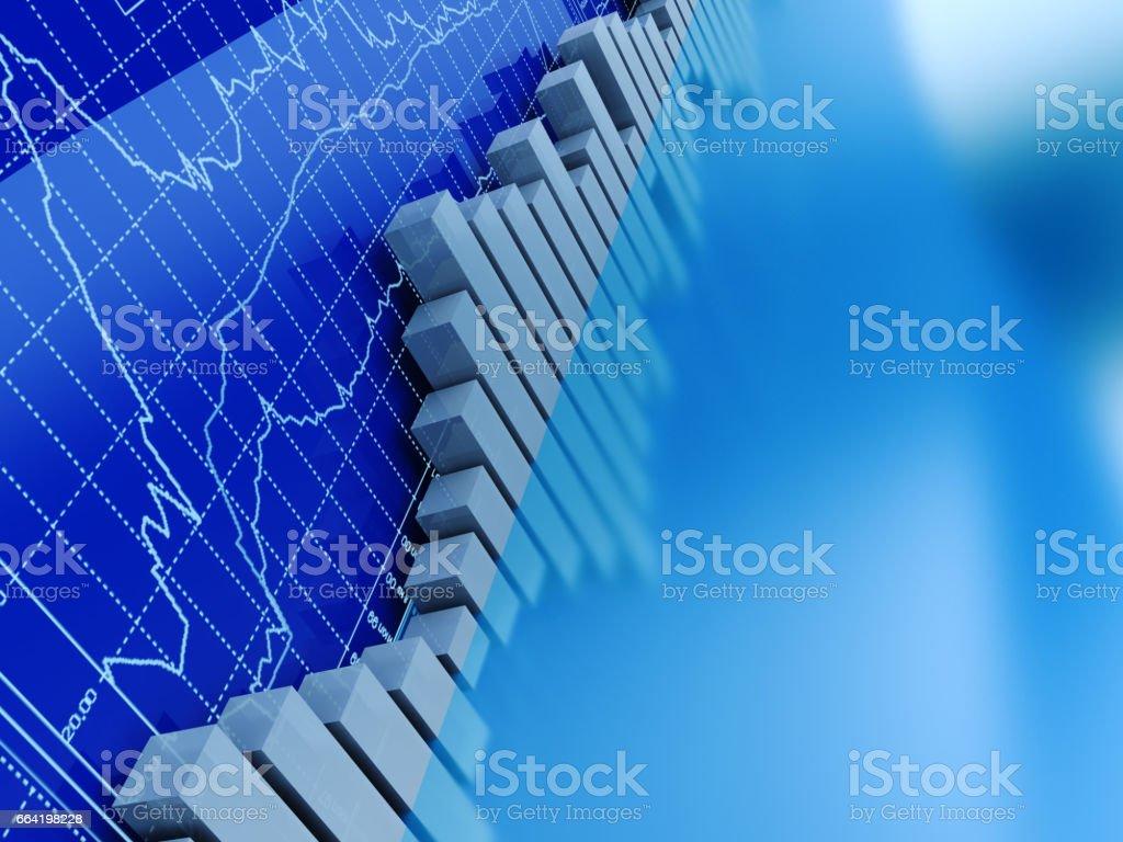 stock trading graphs stock photo