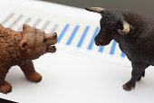 stock trading with bull and bear