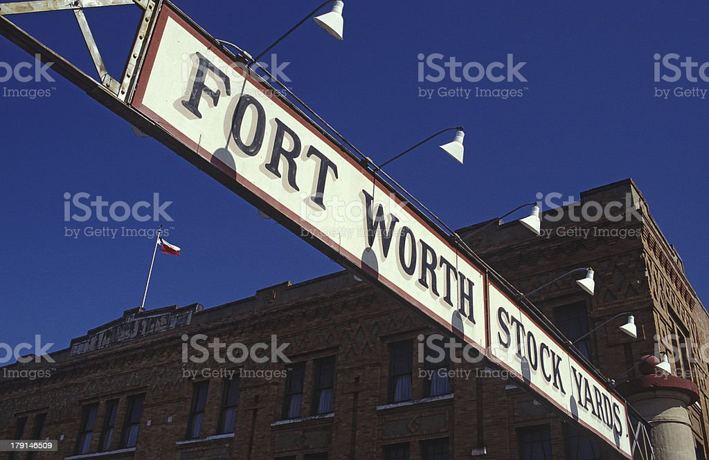 Stock Yards For Worth stock photo