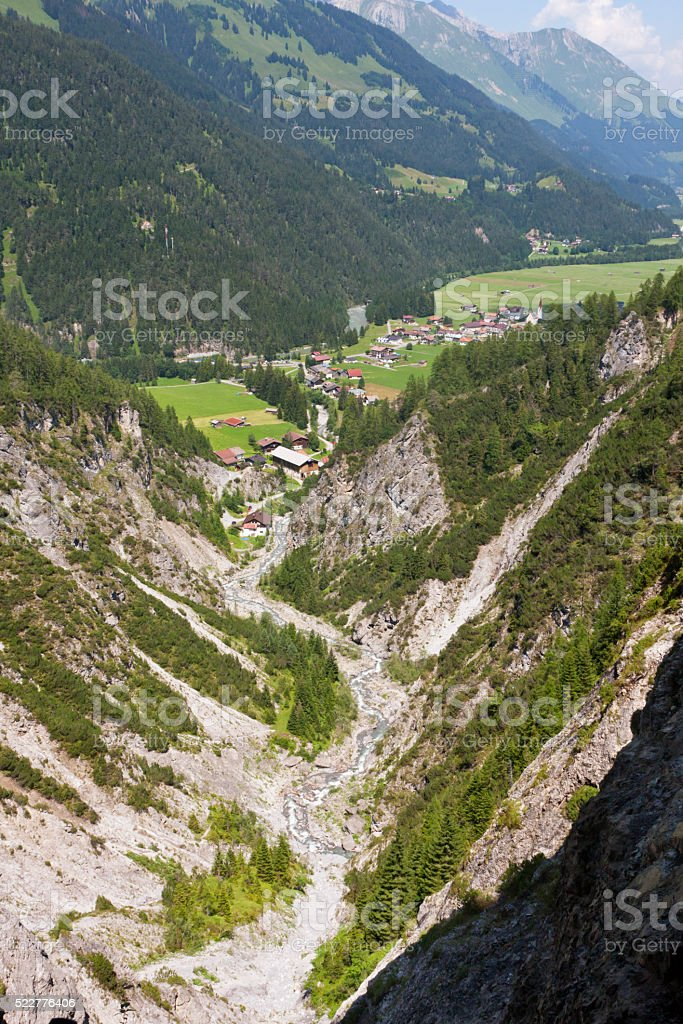 Stockach in the Lech Valley, Austria stock photo