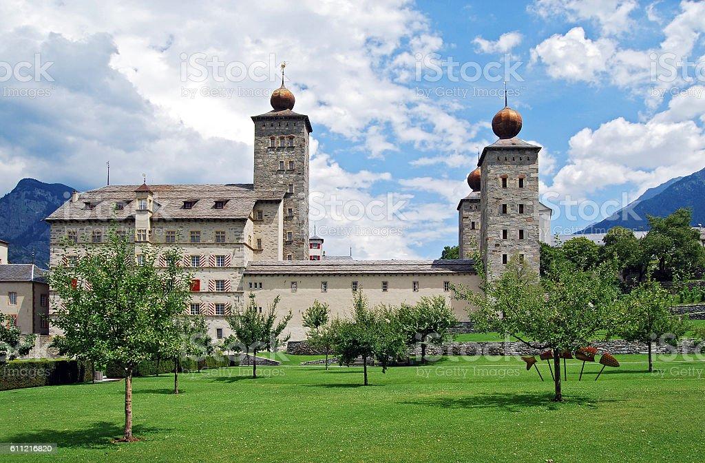 Stockalper Palace (Switzerland) stock photo